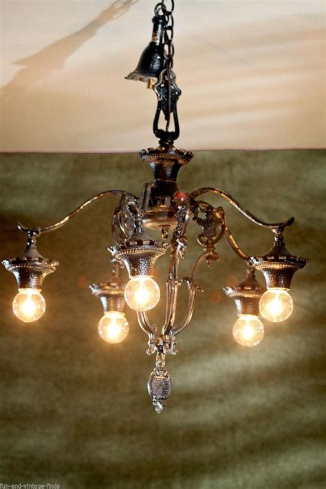 Antique Kitchen Lighting Fixtures Vintage Antique Lighting Black Cast Iron Kitchen Dining Room Chandelier Shabby