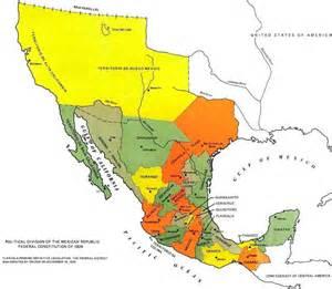 map republic of mexico 1824 mapas