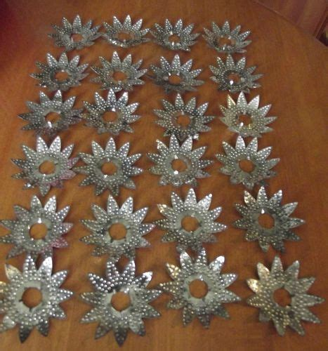 vintage christmas tree light reflectors 24 die cut tin