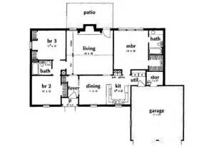 1400 Sq Ft House Plans by Ranch Style House Plan 3 Beds 2 Baths 1400 Sq Ft Plan