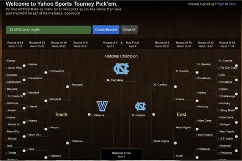 email yahoo sports check out my ncaa tournament yahoo sports bracket
