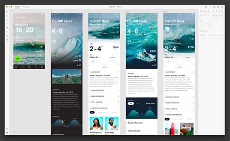 Onshore Surf Stats Designed With Adobe Xd Uxfree Com Adobe Xd App Templates