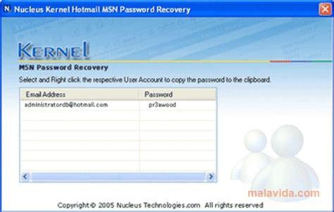imagenes hotmail gratis descargar nucleus kernel hotmail msn password recovery 4