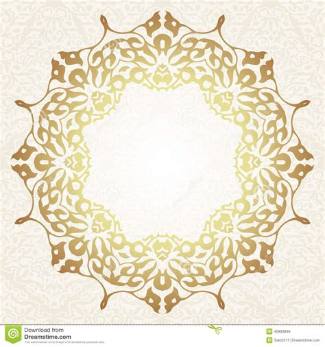 Wedding Clip Padang by Floral Frame Background In Arabic Motif Stock Vector