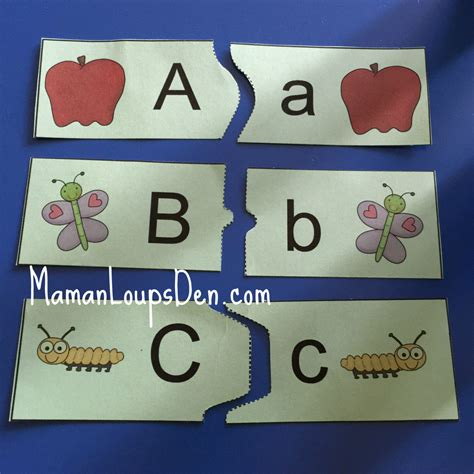 printable abc puzzle how we learned the abcs