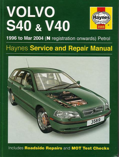 volvo s40 v40 shop manual service repair workshop book