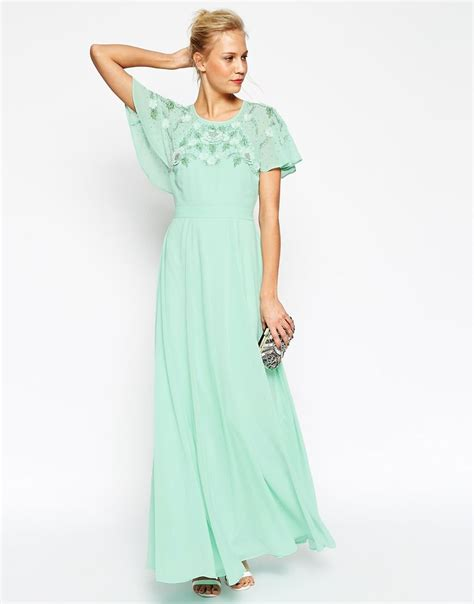 Flutter Sleeve Dress flutter sleeve maxi dress www imgkid the image kid