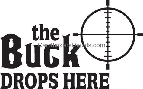 here comes the buck moon usatodaycom the buck drops here crosshair sticker decal car