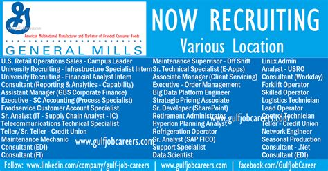 General Mills Mba Internship Finance by Exciting Careers At General Mills Various Location