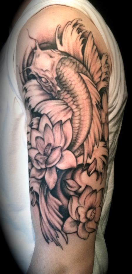 tattoo arm koi koi arm by jessica brennan tattoos