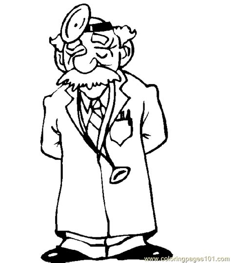 free coloring pages of doctor