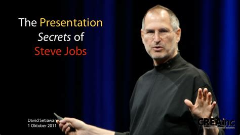 The Presentation Secrets Of Steve Jobs Steve Ppt