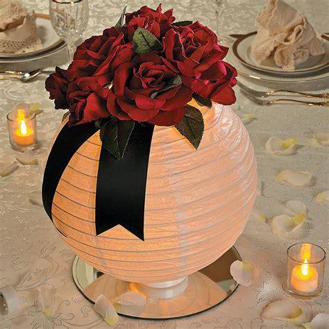 Lighted Floral Lantern Centerpiece Idea   OrientalTrading