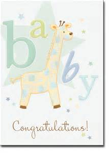 giraffe baby congratulations card