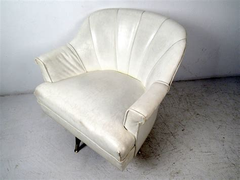vinyl lounge chairs cheap mid century modern white vinyl lounge chair for sale at