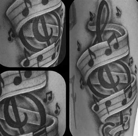 music themed tattoos designs 80 treble clef designs for musical ink ideas