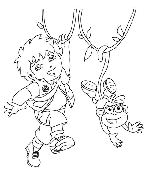 printable diego coloring pages coloring me