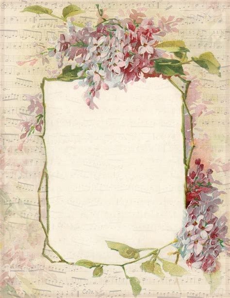 printable vintage stationery lilac lavender april 2014