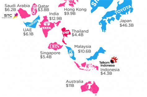 Map The Most Valuable Brand In Each Country In 2018 by These Are The Most Valuable Brands In Each Country