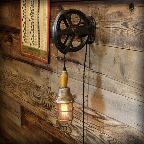 explosion proof trouble light vintage industrial cast iron pulley explosion proof