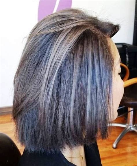 highlights to hide grays for brunettes pics 25 best ideas about going grey transition on pinterest