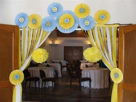Baby Shower Decorations India by Yellow And Blue Baby Shower Decor Untumble Customised