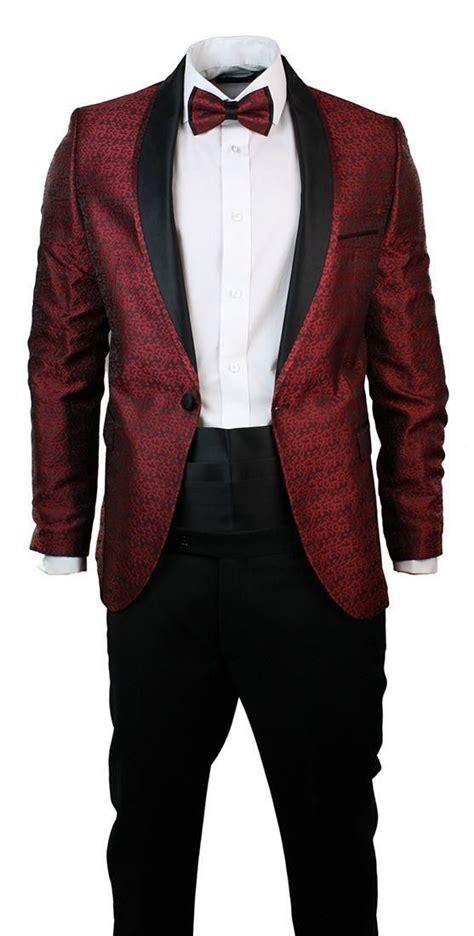 wine color tuxedo mens slim fit wine maroon black paisley suit tuxedo shawl