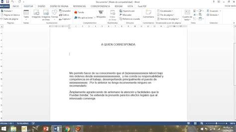 como hacer una carta como hacer una carta de recomendaci 243 n youtube