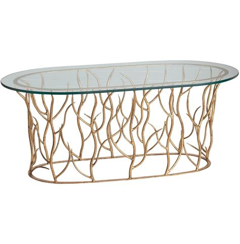 alden iron polished glass gold leaf coffee table kathy