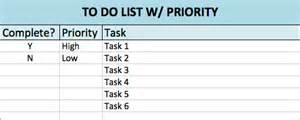 Prioritized To Do List Template Free To Do List Templates In Excel