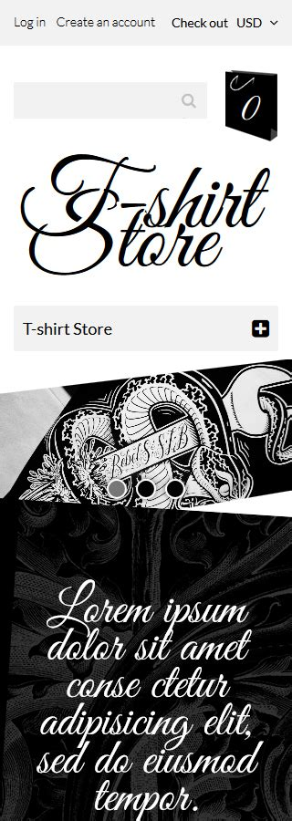 shopify themes for t shirts t shirt designs shopify theme smartphone layout 2