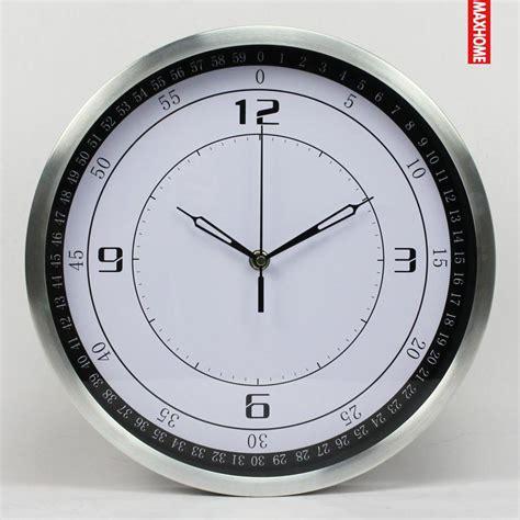 modern style wall clock fashion large metal mirror wall clocks home decor silent