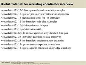 Recruiting Coordinator Cover Letter by Top 5 Recruiting Coordinator Cover Letter Sles