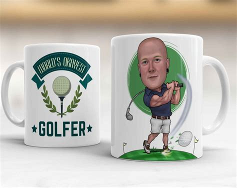 golf gifts golf custom caricature mug golf gift for golf gift for