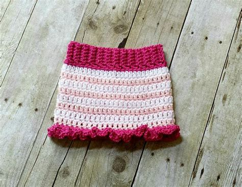 crochet baby ruffle bottom skirt by thepatterngirl craftsy