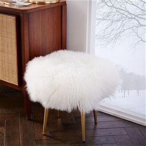 mongolian fur bar stool beige massoud winston sheepskin stool