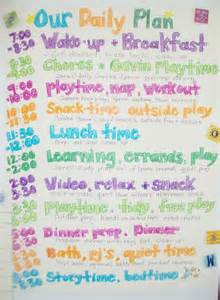 supernanny house template family daily routine schedule template nanny