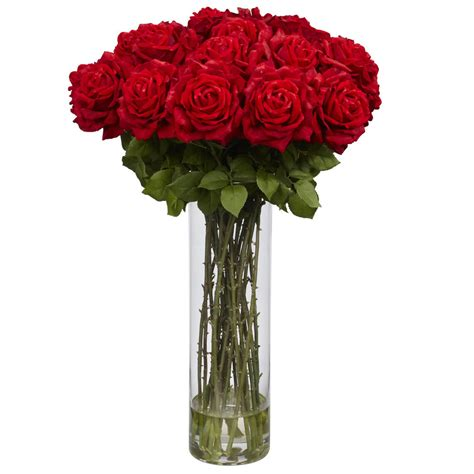 Large Artificial Flower Arrangements Vases by 31 Quot Large Silk Flower Arrangement W Vase