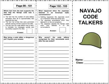 navajo code talkers 4th grade reading by miss