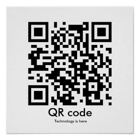 poster design with qr code qr code technology is here posters zazzle