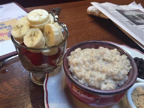 original pancake house ladue real oatmeal fresh fruit yelp