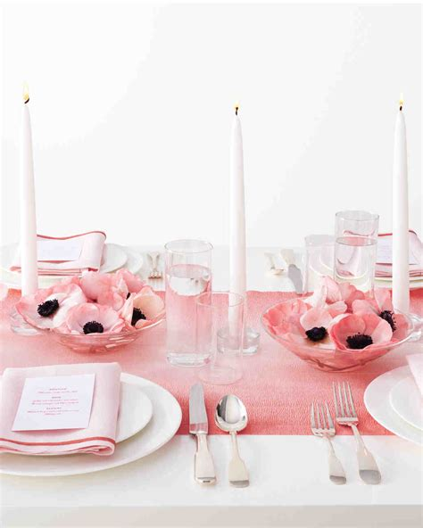 pink paper table runner diy table runners martha stewart weddings