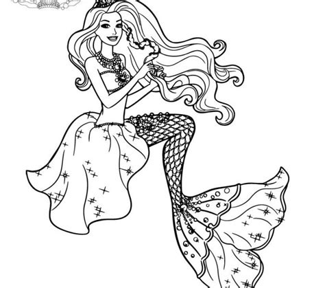 barbie pearl princess coloring pages kids coloring