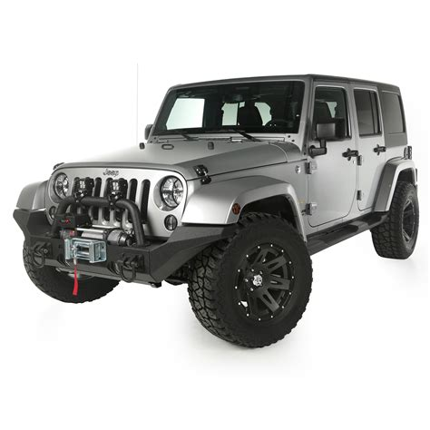 rugged ridge 11540 10 front recovery bumper xhd winch mount jk 11540 10 jeepey jeep parts spares and accessories