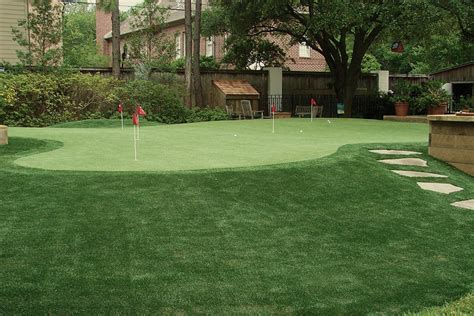 putting green backyard home artificial grass and putting greens in houston