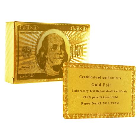 Plated Gift Card - 24k gold foil plated playing cards property room