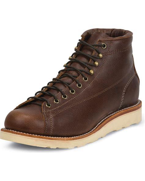 lace to toe boots chippewa s lace to toe bridgemen boots boot barn