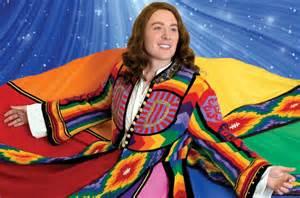 Shines in joseph and the amazing technicolor dreamcoat billboard