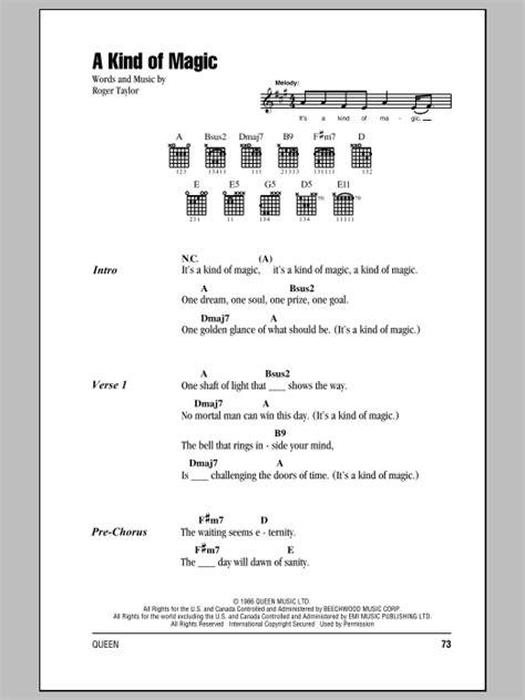 A Kind Of Magic Sheet Music   Queen   Guitar Chords/Lyrics