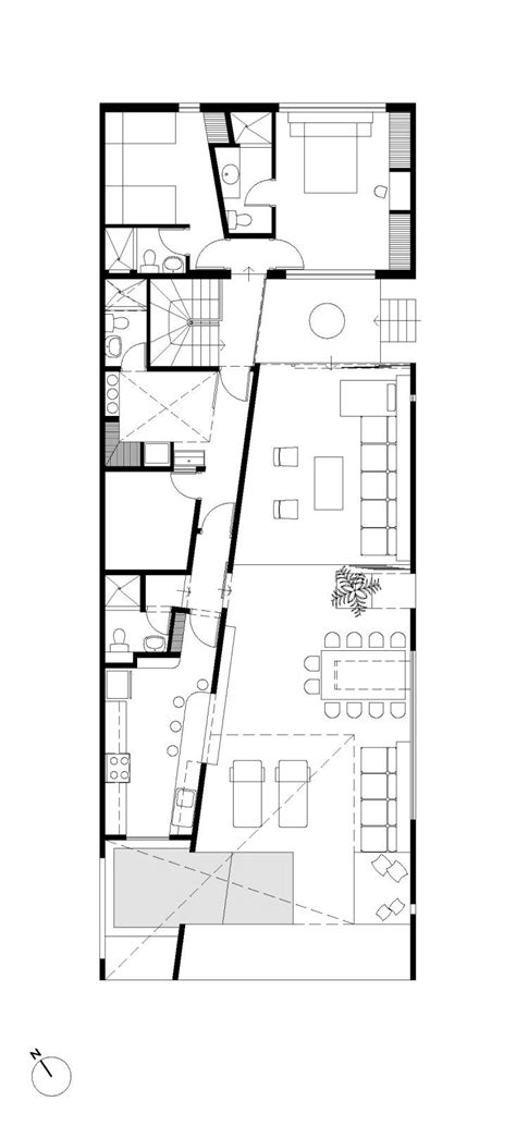 design for rectangular plot casa en playa en las arenas artadi arquitecto